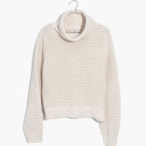 NEW Madewell Side Button Turtleneck Chunky Sweater